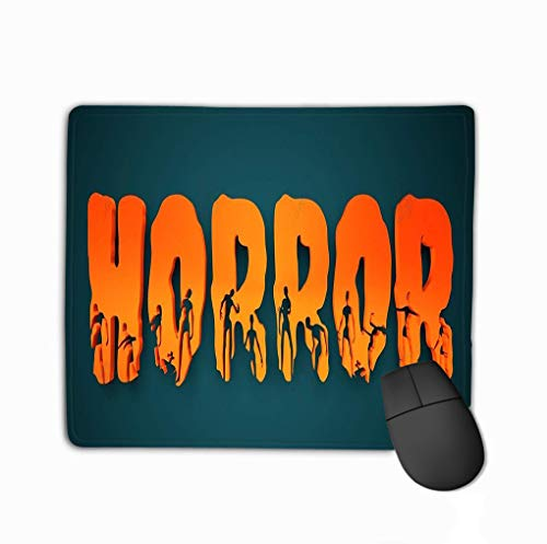 Mouse pad horror word silhouettes them halloween theme background d rendering steelseries keyboard