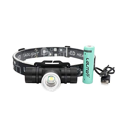 Frontale LED,Puissante Torche,Frontale Lampe,Imperméable à l'eau 8000lm Xml-t6 Led Headlamp 3-mode Zoom Headlight Camping Led Flashlight Torch Hunting Lantern Use Battery