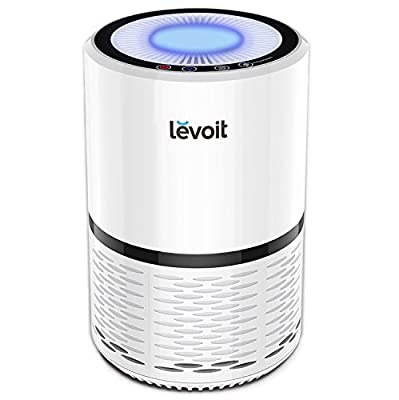 Air Purifier with True HEPA & Active Carbon Filters, Compact Purifiers Filtration with Night Light, No Ozone, PM Eliminator Cleaner for Allergies, Home, Pets Dander, Smokers, Cooking, LV-H132 by Levoit
