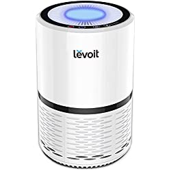 Levoit LV-H132 Purificador de Aire con Auténtico Filtro HEPA Compacto. Tres Ajustes de Velocidad, con Luz de Noche, Filtro de Aire con Poco Ruido para Hogar, Casas, Oficinas, Mascotas, Fumadores, Cocina, etc. No es por Cable USB
