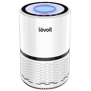 Levoit LV-H132 Purificateur d'Air avec Véritable HEPA et Filtre à Charbon, 3 Etapes de Filtration (Jusqu'à 99.97%), Eloignez Pollen, Batterie, Fumée et Poils, 3 Vitesse de Réglage avec Veilleuse