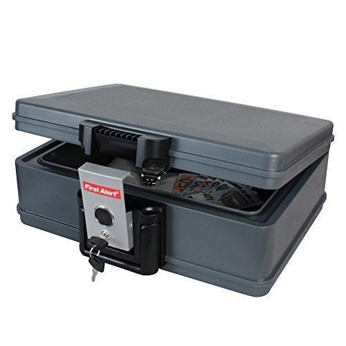 HMF LIPO Sicherheitskoffer Feuerschutz, Akku Brandschutz, Feuerfeste Dokumentenbox, 410 x 324 x 155 mm