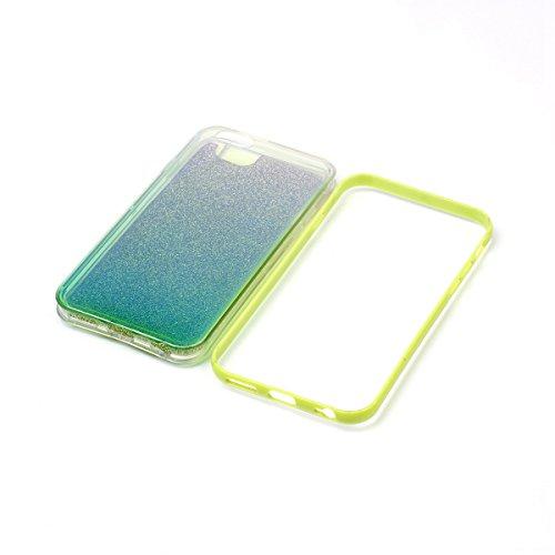 Ukayfe Custodia per iPhone 6/6S 4.7,UltraSlim TPU Gel Gomma Silicone Copertura Case per iPhone 6/6S 4.7,Moda Serie Pattern Back Cover Crystal Skin Custodia Stilosa custodia di design Protettiva Shell  Glitter Verde