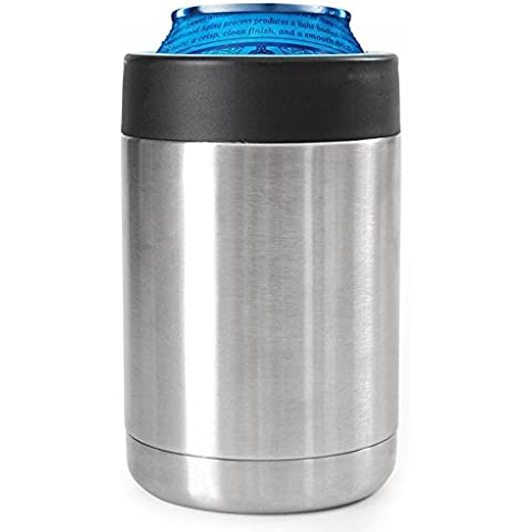 12oz latas) acero inoxidable, pack two, 12 onzas