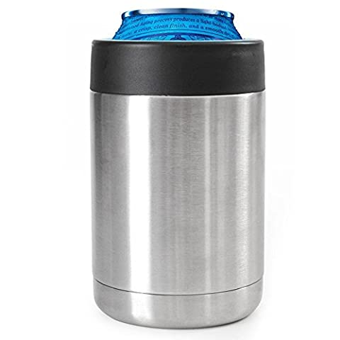 12oz Can Cooler Stainless Steel (Pack Two)