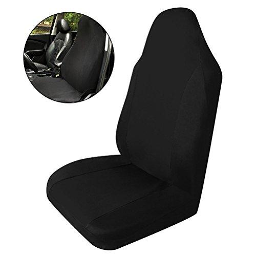 WINOMO Auto-Sitzbezüge Anti-Rutsch-Vordersitz-Abdeckungs-Schutz (Schwarzes)