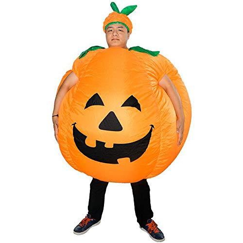 Zhanghaidong Aufblasbare Halloween Kürbis Kostüm Cosplay Body Blow Up Cosplay Kostüm Lustiger Anzug Karneval Bühne Leistung Kürbis Aufblasbare Anzug