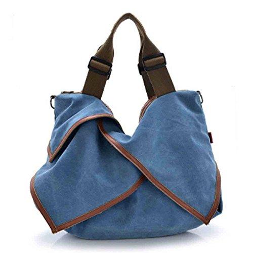 KUWOMINI.Women Bags All Seasons PU Tote Con Ruffles Rivetto Per Evento / Party Shopping Casual Sports Ufficio Formale Ufficio & Carriera Fucsia Blushing Blue