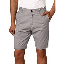 79dd032a684a HEMOON Herren Cuba Shorts Bermuda Sommer Kurze Hose Chino Basic