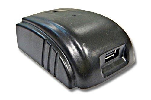 vhbw Akku Adapter für Werkzeug 1-fach USB als externe Stromquelle für AEG/Milwaukee 48-11-1840, 48-11-1850, 48-11-2830, 4932352732, B41A, B41B