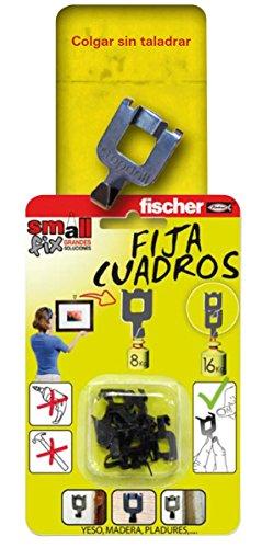 fischer-518168-fijacuadros-negro-blister-8pz