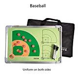 Doppelseitiges Baseball Magnetic Tactic Coaching Board Athlet Competition Wiederbeschreibbares Kommando