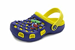 Phedarus Comfortable Clogs for Boys - Blue & Yellow (Size: 18 EURO)