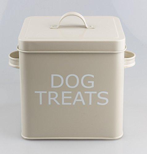 Stile retrò vintage Dog Treats scatola di latta