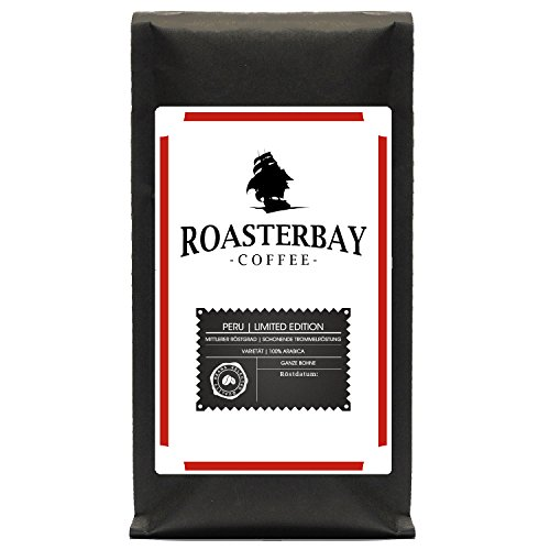 Roasterbay Premium Kaffee Crema aus 100% Arabica 400g   Peru   Ganze Bohnen aus dem Hochland  ...