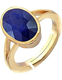 Blue Sapphire Ring 13.25 Carat Panchdhatu Adjustable Neelam/Nilam Ring For Woman By Harshali Gems