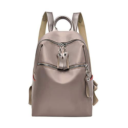 About1988 Damen mode Rucksack Oxford wasserdichte Tasche Anti-Diebstahl Umhängetasche Freizeit, Vintage PU Leather Backpack Handbags, Diebstahlsicherer Elegant Handtasche (Khaki) -