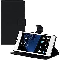 kwmobile Funda para Sony Xperia T3 Style - Wallet Case plegable de cuero sintético - Cover con tapa tarjetero y soporte en negro