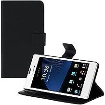 kwmobile Elegante funda de cuero sintético para el Sony Xperia T3 Style con cierre magnético y función de soporte en negro