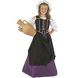 Limit Sport Disfraz de tabernera medieval para niña (MI239)