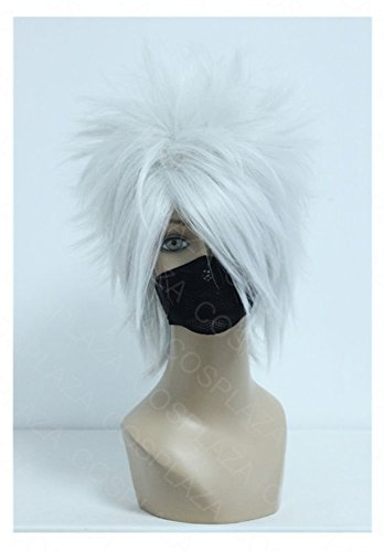 take Kakashi Silber Weiß Anime Cosplay Wig Karneval Party Haar ()