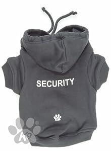 'Security' Grey Dog Hoodie from K9 by Igloo Designs (medium)
