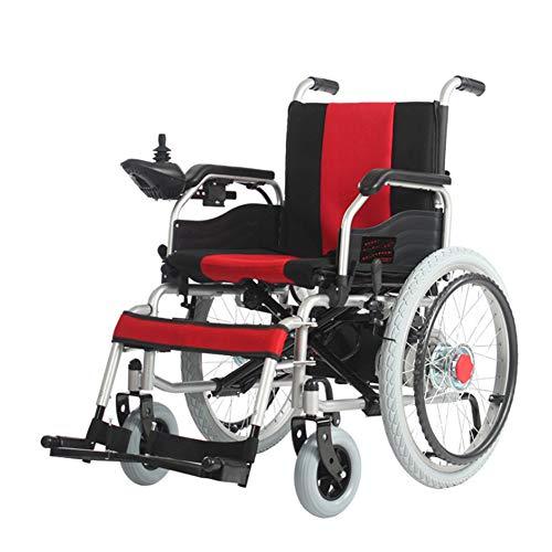 ANZQYILIAO Elektrisch klappbar Elektro-Rollstuhl Elektro-Rollstuhl Leichter faltender Klapp leistungsstarker Doppelmotor Elektro-Rollstuhl Lange Lebensdauer der Batterie trägt
