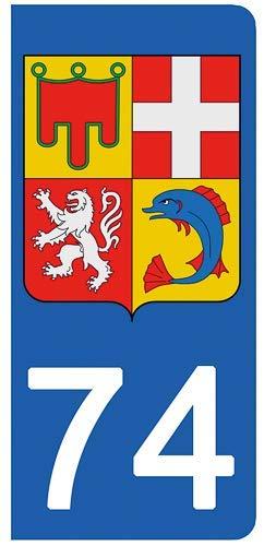 Hearty 74 Haute-savoie Departement Immatriculation 2 X Autocollants Sticker Autos Automobilia