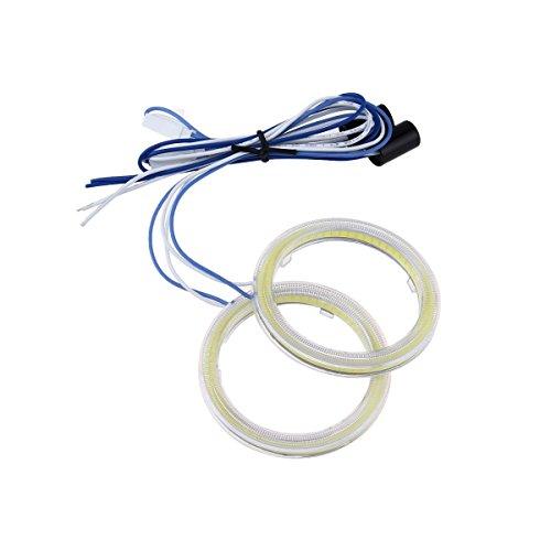Preisvergleich Produktbild Possbay 2x 80mm Angel Eyes LED COB Scheinwerfer Halo Ringe Weisslicht Mit Abdeckung