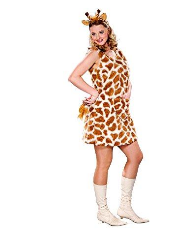 Festartikel Müller Damen Kostüm Giraffe Kleid Haarreif Karneval Fasching ()