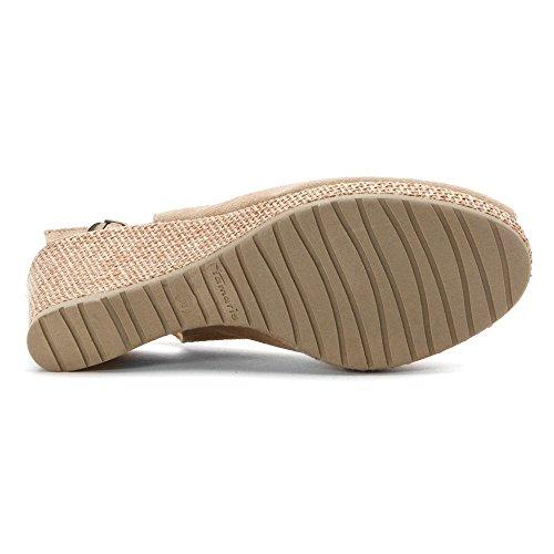 Tamaris Damenschuhe 1-1-28053-26 Damen Sandaletten Slingback Sandale Alpaca