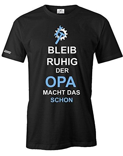 Jayess Bleib Ruhig der Opa Macht Das Schon - Herren - T-Shirt Schwarz