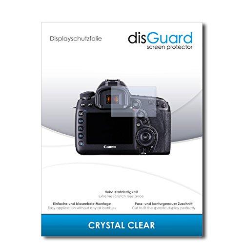 disGuard® Displayschutzfolie [Crystal Clear] kompatibel mit Canon EOS 5D Mark IV [2 Stück] Kristallklar, Transparent, Unsichtbar, Extrem Kratzfest, Anti-Fingerabdruck - Panzerglas Folie, Schutzfolie