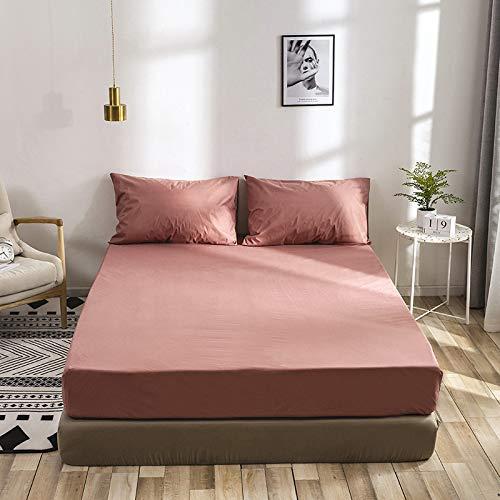 BBQBQ Druck Bett Matratzenbezug wasserdicht Matratzenschoner Pad Spannbetttuch getrennt Wasser Bettwäsche mit elastischen,Schleifmatratzenbezug Soja 150 * 200 * 30cm