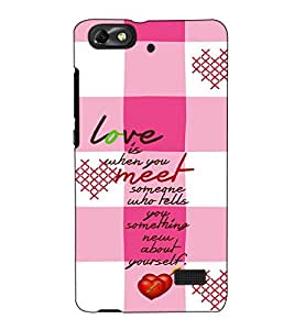 Fuson Designer Back Case Cover for Huawei Honor 4C :: Huawei G Play Mini (Love is when you meet)