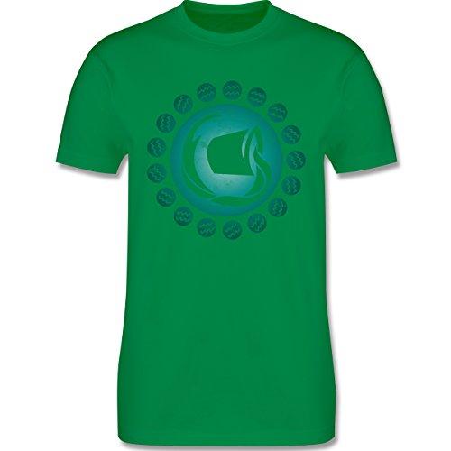 Shirtracer Symbole - Tierkreiszeichen Wassermann - Herren T-Shirt Rundhals Grün