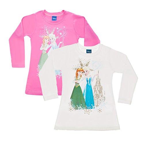 Kleines Kleid Frozen Langarmshirt mit schöner Rückenverzierung Size 146, Farbe Rosa