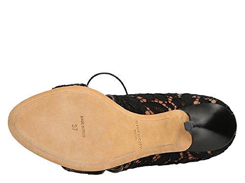 Sandales à talons hauts Givenchy en dantelle noir - Code modèle: BE091993081 822 Noir