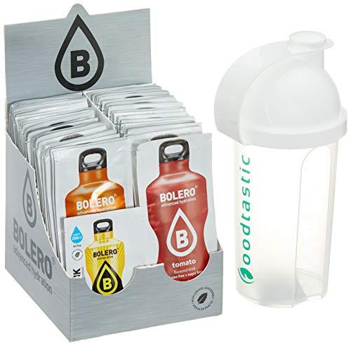 Bolero Kennenlernpaket mit ALLEN 58 Sorten + Foodtastic Shaker 500ml I zuckerfreies Getränkepulver mit Stevia gesüßt I Mixbox zum Testen aller Geschmäcker -