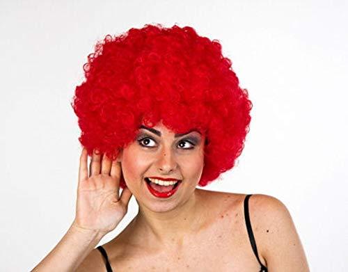 Horror-Shop rote Clown Afro Perücke