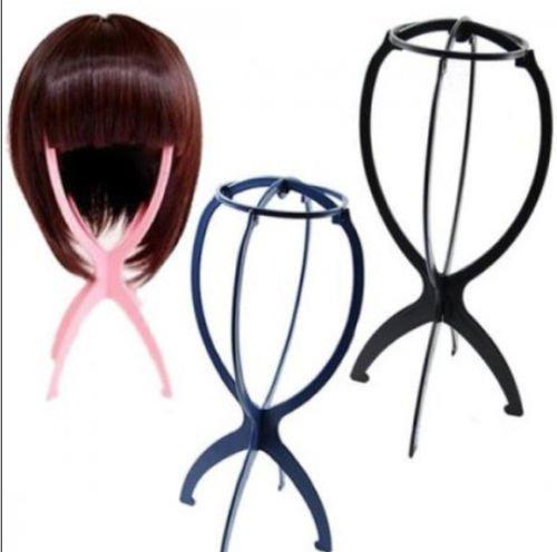 pliant Plastique stable durable Perruque cheveux Chapeau support support Outil d'affichage Rack (couleur aléatoire)