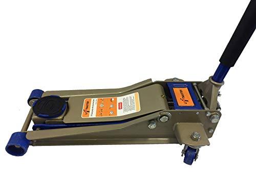 Liftmaster 3 Ton Resistente Ultra Perfil bajo Acero Suelo Jack con Quick Elevador - Rango de elevación: 75mm---500mm capacidad: 3 ton peso neto: 33kg