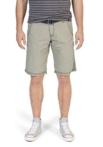 Timezone Herren Shorts Regular Russel Chino Shorts Incl. Belt Grün (Oregano 4217)