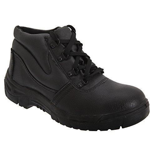 Grafters Safety Shoes Y Inter Sole En Steel - Black Man
