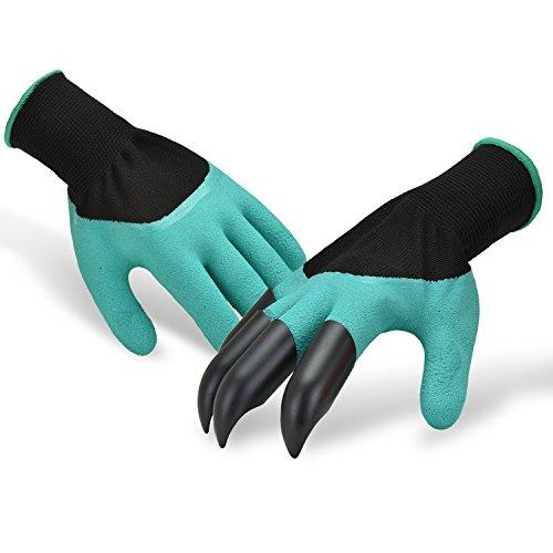 garten handschuhe Browill Wasserdicht Gartenhandschuhe [1 Paar] langlebig stichsichere Safe Gartenarbeit Handschuhe mit ABS-Kunststoff krallen für Haushalt und Garten Werkzeug handschuhe