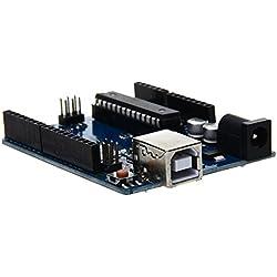 TOOGOO(R) Funduino Uno R3 ATmega328P PU Tarjeta de Expansion Junta + Cable USB para Arduino