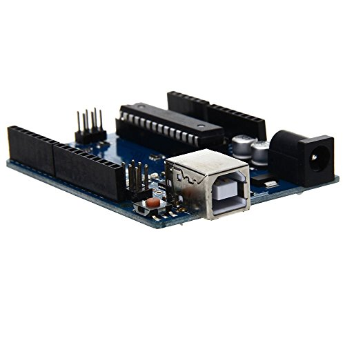 SODIAL(R) Funduino UNO R3 ATmega328P-PU Carte d'extension Plaque + Cable USB pour Arduino