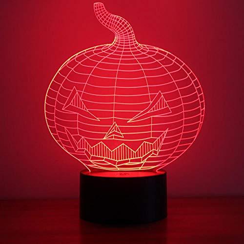 ZNNYE 3D Visuelle Led Vision Nachtlicht Usb Tischlampe Lampara Stimmung Dimmen Kreative Halloween Kürbis Lampe Decor Leuchte Geschenke