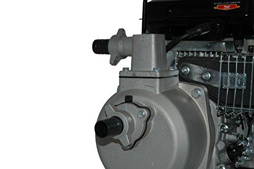 YERD Benzin-Wasserpumpe BW QDZ25-35 (4-Takt Motor, 1,5 PS, 1″ Zoll Anschlüsse) - 5