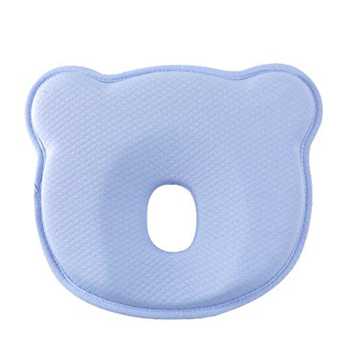Babykissen gegen Plattkopf Memory-Schaum Kopfform Kopfkissen Orthopädisches Kissen für Säugling und Neugeborene (0-12 - Baby-kissen Head Flat